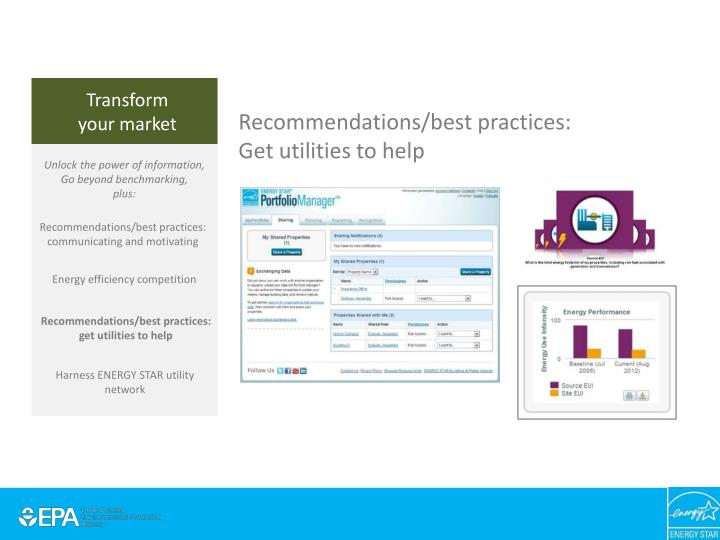 Recommendations/best practices: