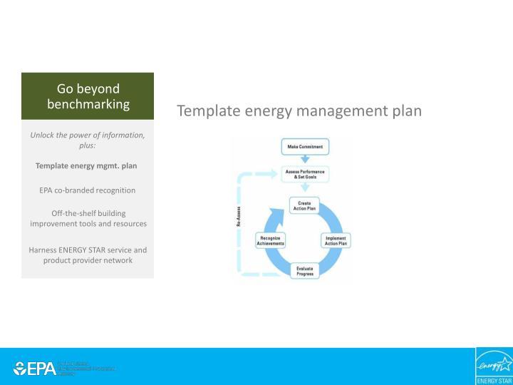 Template energy management plan