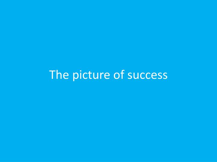 The picture of success