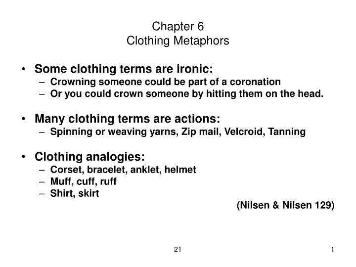 chapter 6 clothing metaphors n.