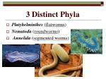 3 distinct phyla