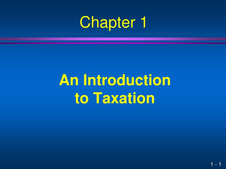 an introduction to taxation n.