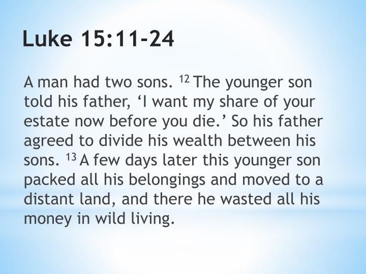 Luke 15 11 24