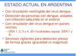 estado actual en argentina