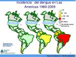 incidencia del dengue en las americas 1980 2009