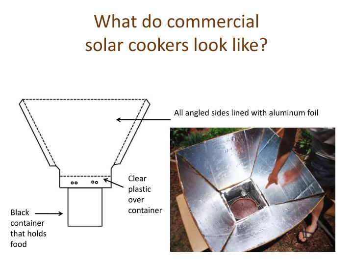 What do commercial solar cookers look like