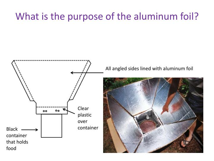 What is the purpose of the aluminum foil?