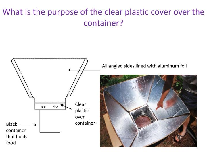 What is the purpose of the clear plastic cover over the container?