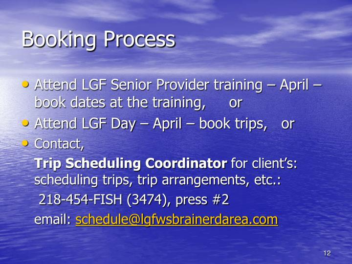 Booking Process