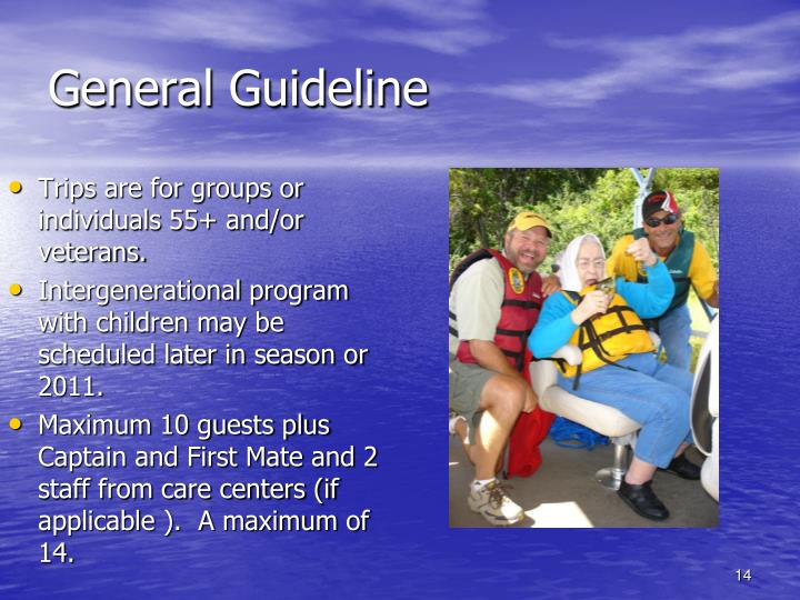 General Guideline