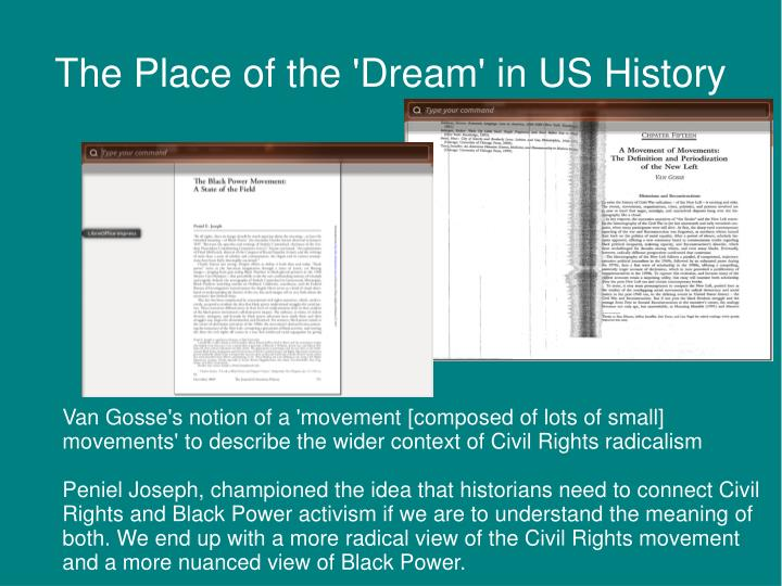 The Place of the 'Dream' in US History