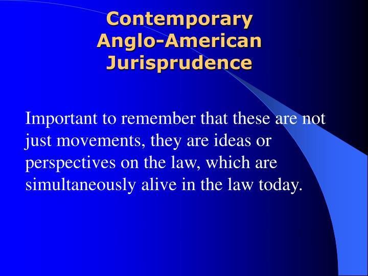 contemporary anglo american jurisprudence n.
