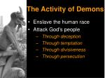 the activity of demons3