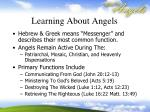 learning about angels