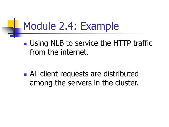 Module 2.4: Example