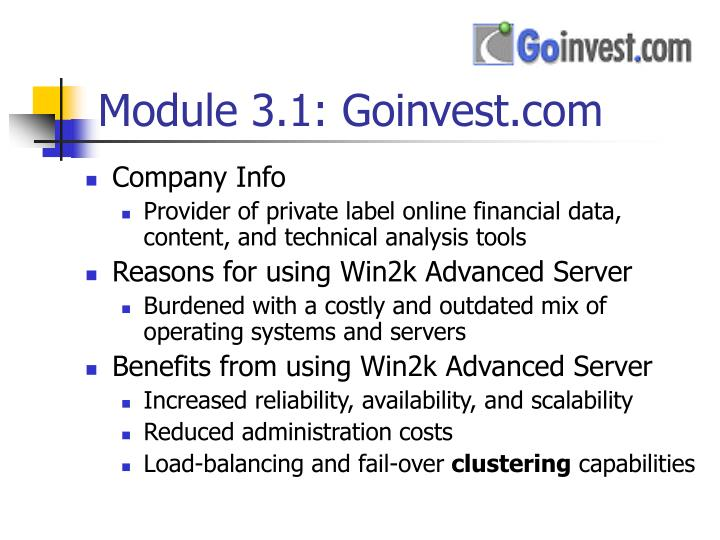 Module 3.1: Goinvest.com