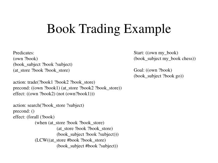 Book Trading Example