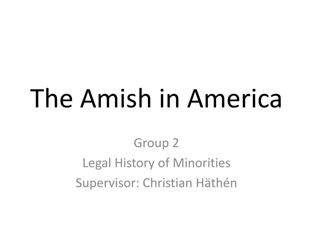 Ppt The Amish In America Powerpoint Presentation Free Download Id 5490118