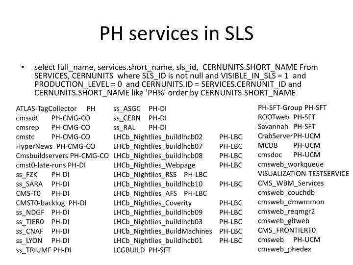PH services in SLS