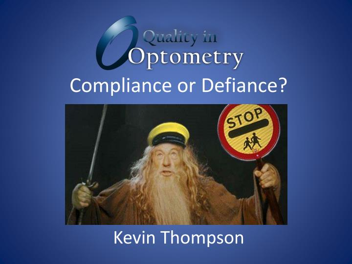 compliance or defiance n.