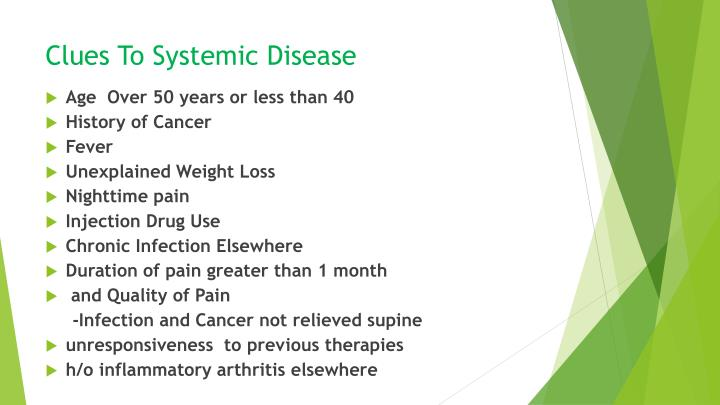 Clues To Systemic Disease