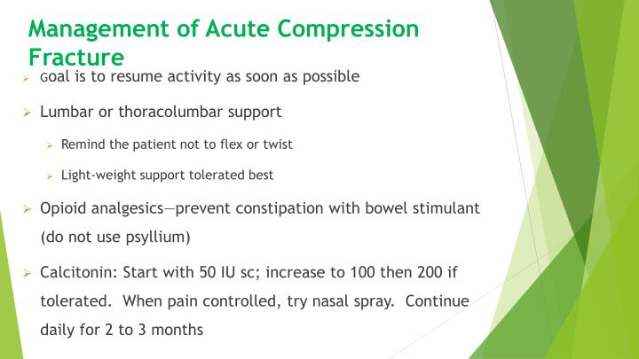 Management of Acute Compression Fracture