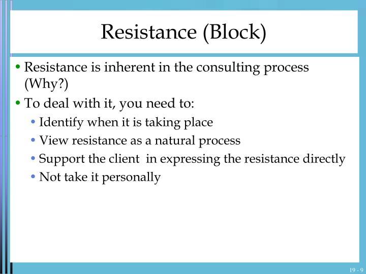 Resistance (Block)