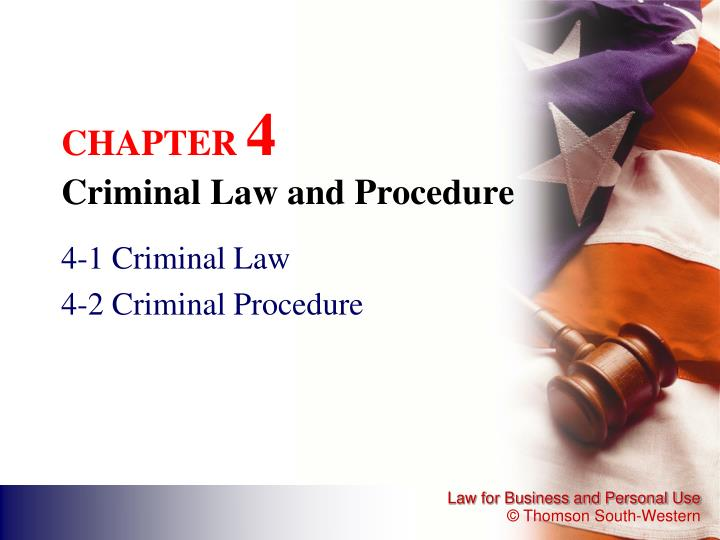 chapter 4 criminal law and procedure n.