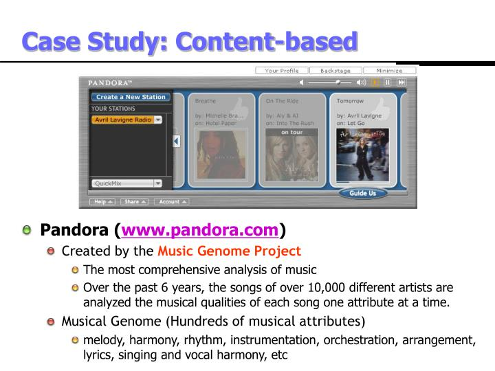 Case Study: Content-based