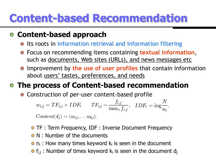 Content-based Recommendation