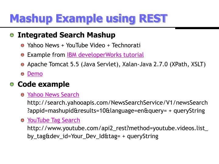 Mashup Example using REST
