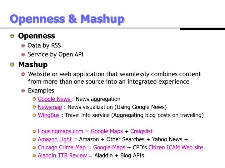 Openness & Mashup