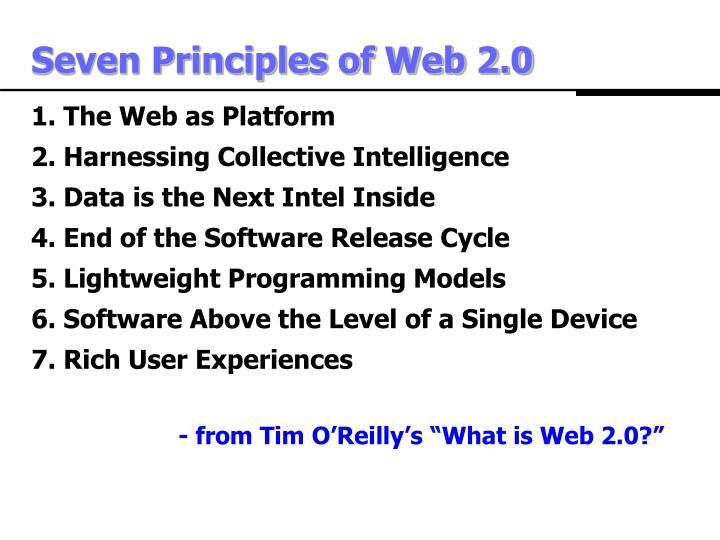 Seven Principles of Web 2.0