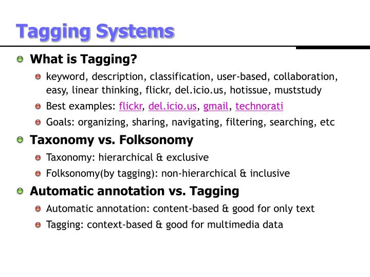 Tagging Systems