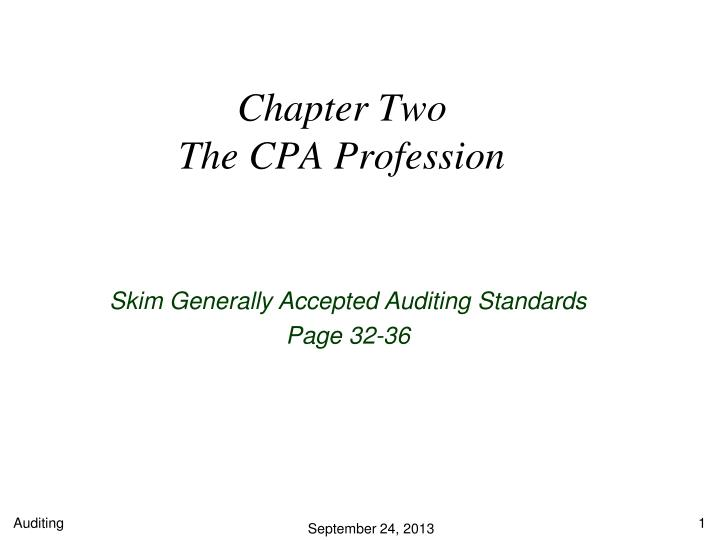 chapter two the cpa profession n.