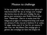 mission to challenge