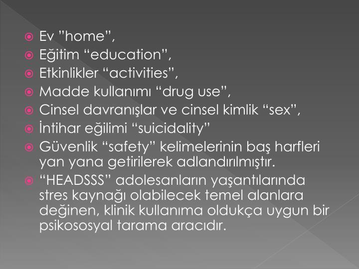 """Ev """"home"""","""