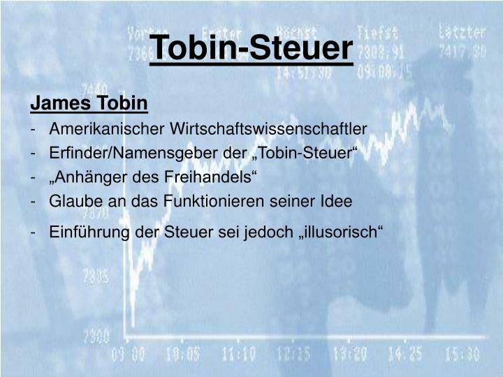 Tobin-Steuer