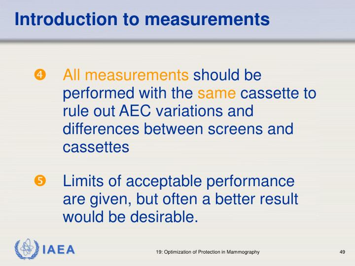 Introduction to measurements