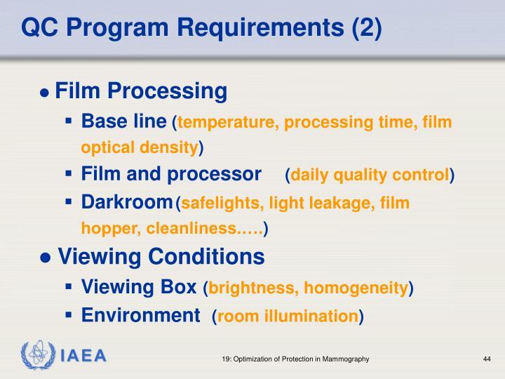 QC Program Requirements (2)
