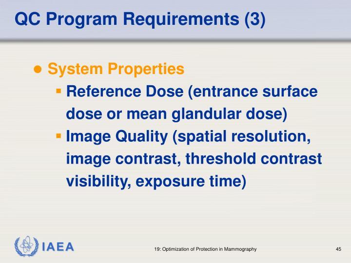 QC Program Requirements (3)