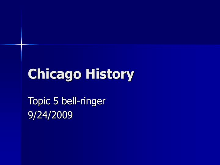 chicago history n.
