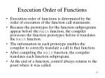 execution order of functions