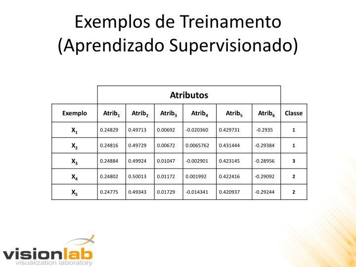 Exemplos de Treinamento