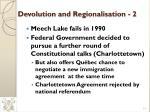 devolution and regionalisation 2
