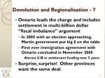 devolution and regionalisation 7