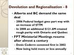 devolution and regionalisation 8