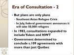 era of consultation 2