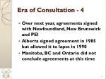 era of consultation 4