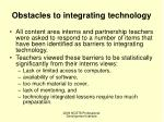 obstacles to integrating technology